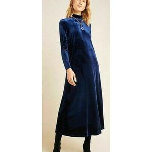 NEW Amadi Bianca Velvet Maxi Dress Navy sz Small